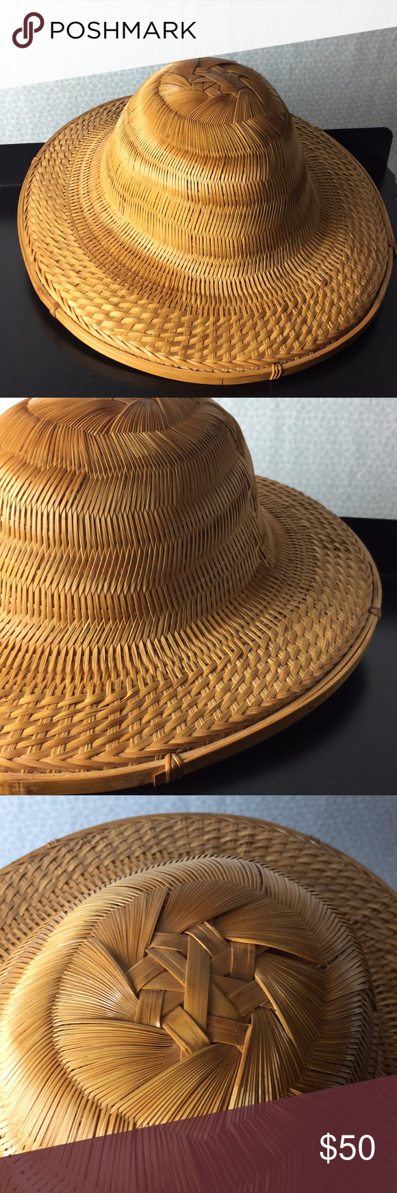 Vintage Asian Rice Paddy Hat Women Accessories Hats Women Accessories Accessories Hats