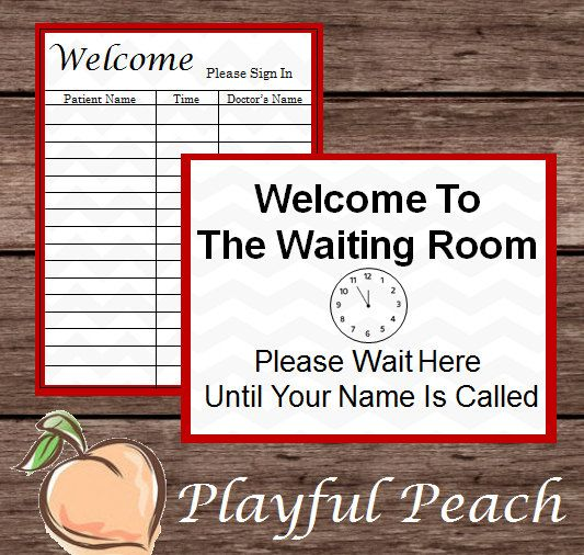 Pretend Doctor Guest Sign In Amp Waiting Room Montessori