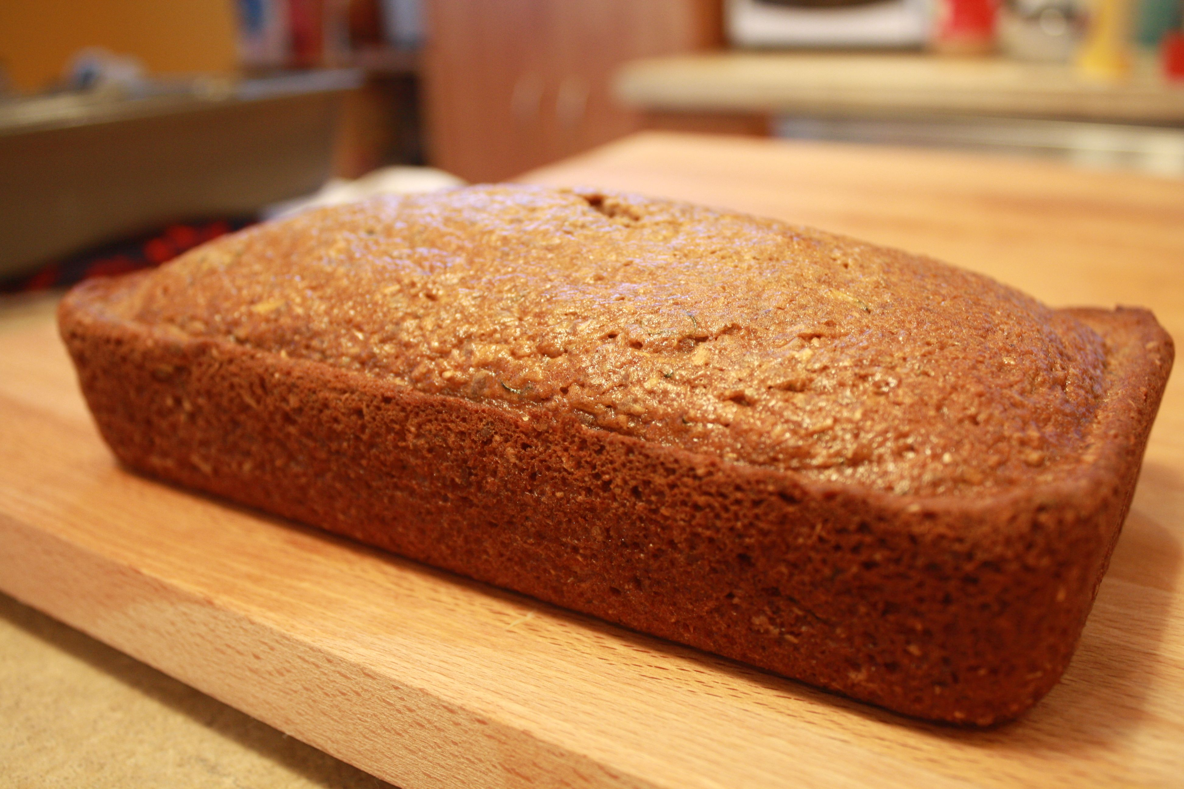 Easy recipe on how to make zucchini bread in a KitchenAid mixer.