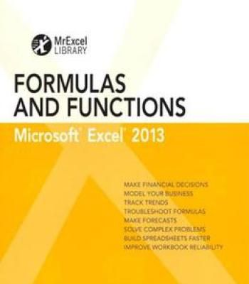 Excel 2013 Formulas And Functions (Mrexcel Library) PDF Software
