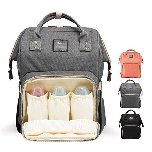Diaper Bag Backpack for Baby Care, Multi-Functional Baby Nappy Changing Bag  with Insulated