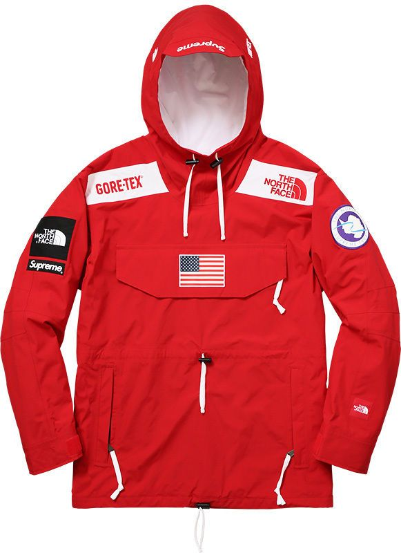 4fed41607 Details about Supreme 17S/S TNF Expedition Gore-Tex Pullover Red ...