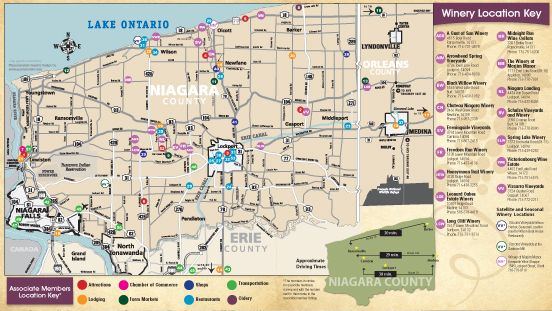Niagara On The Lake Wineries Map The Niagara Wine Trail right in our backyard! | What's happening