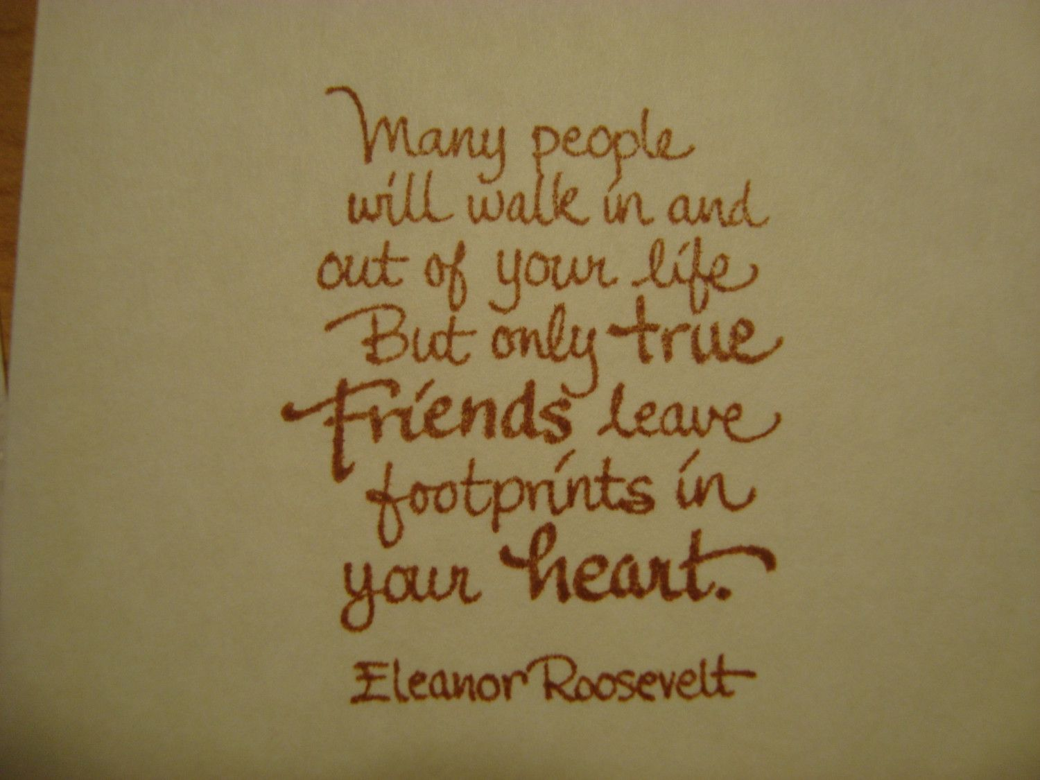 Eleanor Roosevelt Quote On Friendship Set Of Delicate Note Cards