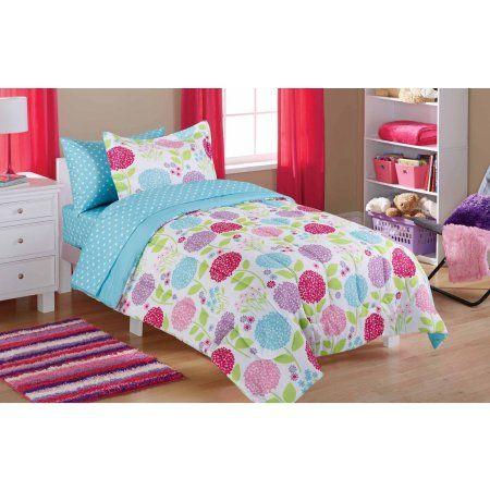 Walmart Bedroom Sets Classy Mainstays Kids In The Garden Bed In A Bag Bedding Set  Walmart 2018