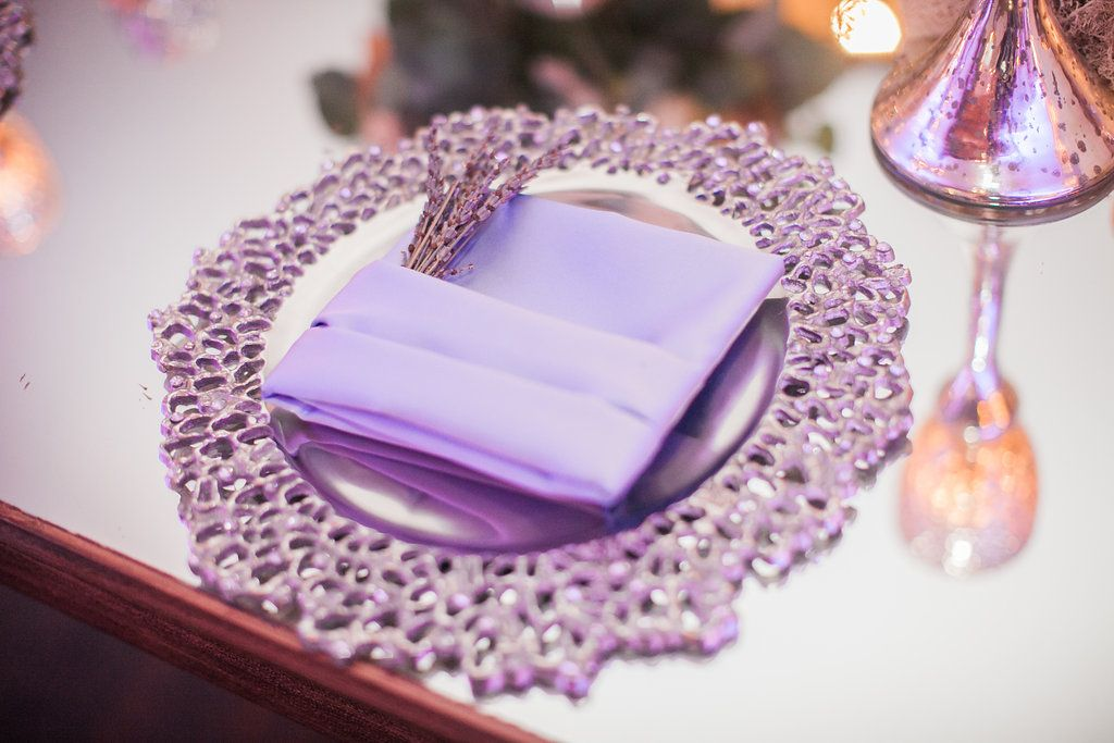 Wedding Charger and Napkin Our Silver Branchstone charger