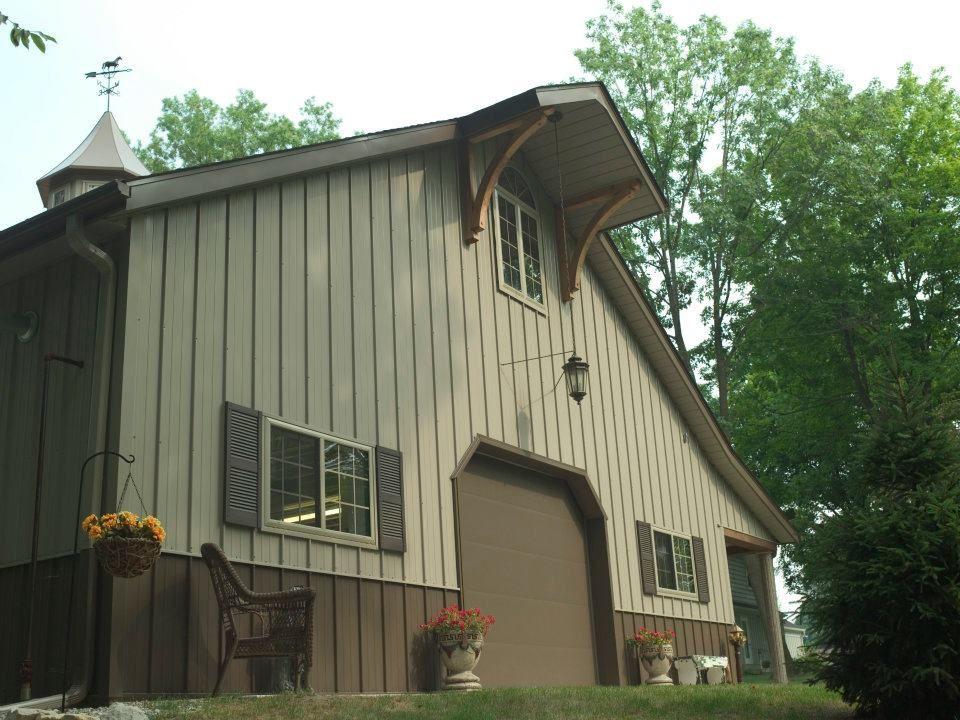 Morton hobby building in Wabash, Indiana. Metal building