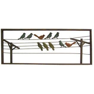 multi color birds on wire metal wall decor shop hobby lobby bird