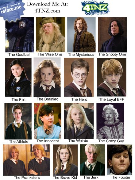 Tag Your Facebook Friends As Harry Potter Characters Harry Potter Characters All Harry Potter Characters Harry Potter Characters Names