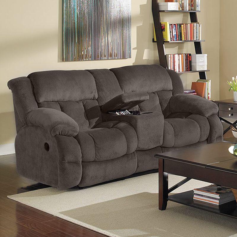 Champion Grey Motion Loveseat, Furniture And Mattress Gallery