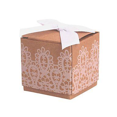 Favor Holder 12 Piece/Set Non-personalised Cubic Favor Boxes – GBP £ 4.25