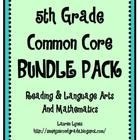 This is a bundle pack that includes my 5th Grade Common Core: Reading & Language Arts, and 5th Grade Common Core: Mathematics. It is a great way to document the Common Core Standards! Just stick it in your lesson plans and note the dates that you teach each skill! $3.50