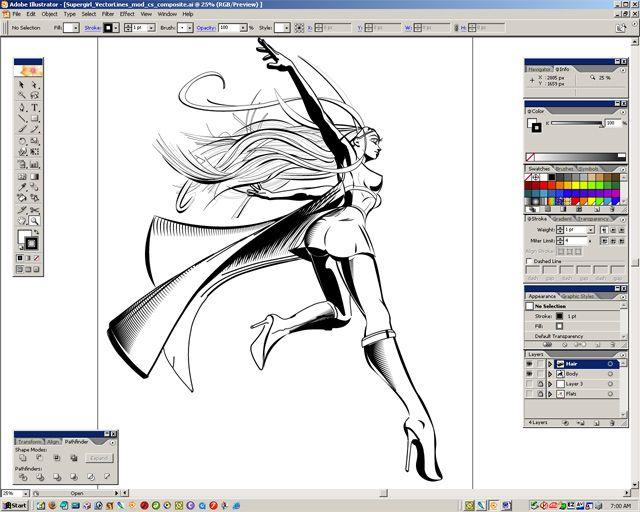 Nice Tut! 2D Comic Art in Poser Part 2: Digital Inking on