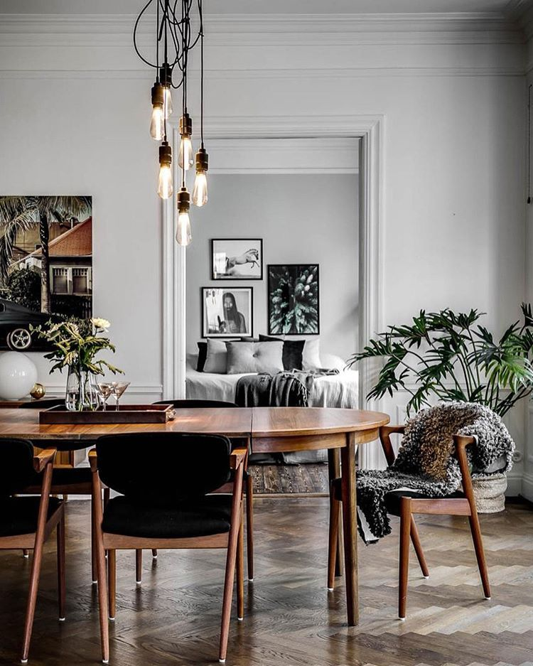 Inject Some Punch Dining Table Crowned By Hooked 6 0 Smoked Bronze Interiordesign Scandinavianinterior L Dining Table Living Room Scandinavian Home Decor Bronze decorations for dining room
