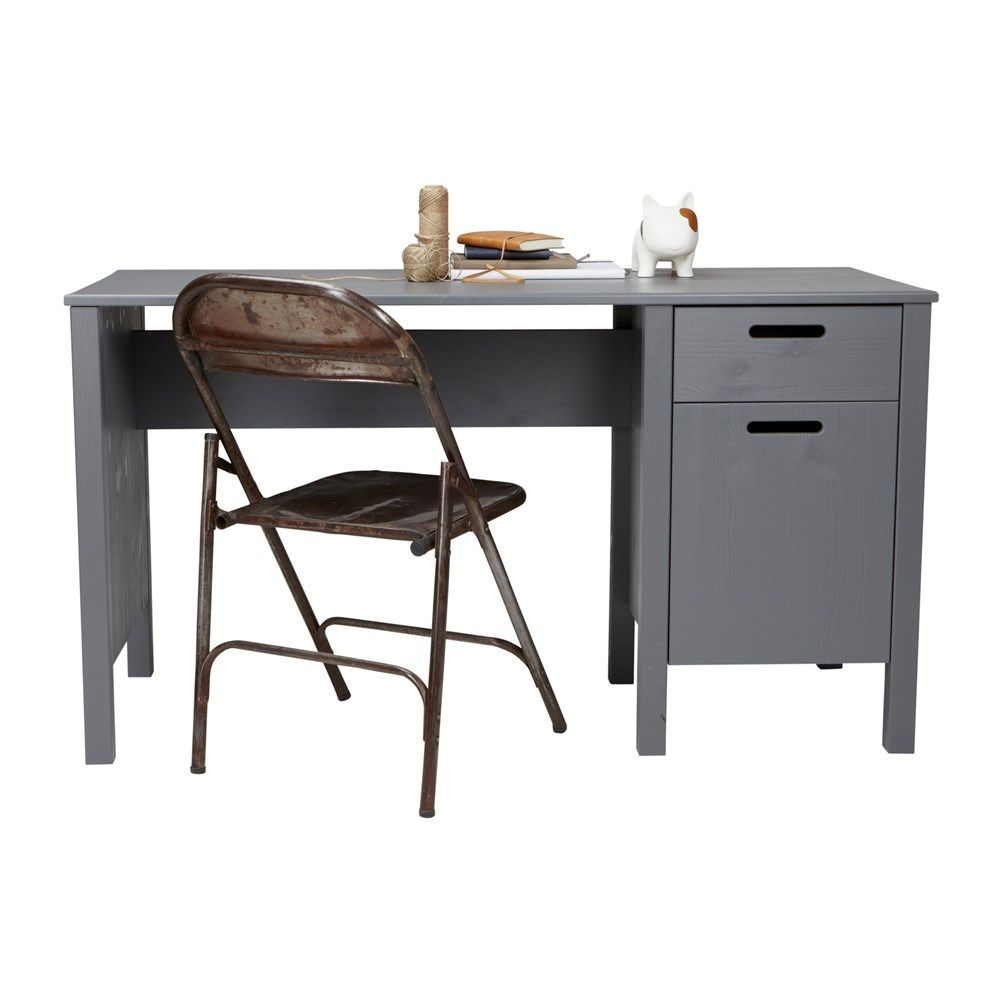 woood jens bureau 135 cm grijs desk pinterest bureaus om and desks. Black Bedroom Furniture Sets. Home Design Ideas