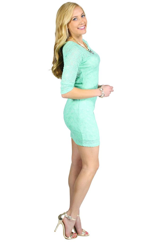 Lace Body Con Dress - uoionline.com: Women's Clothing Boutique