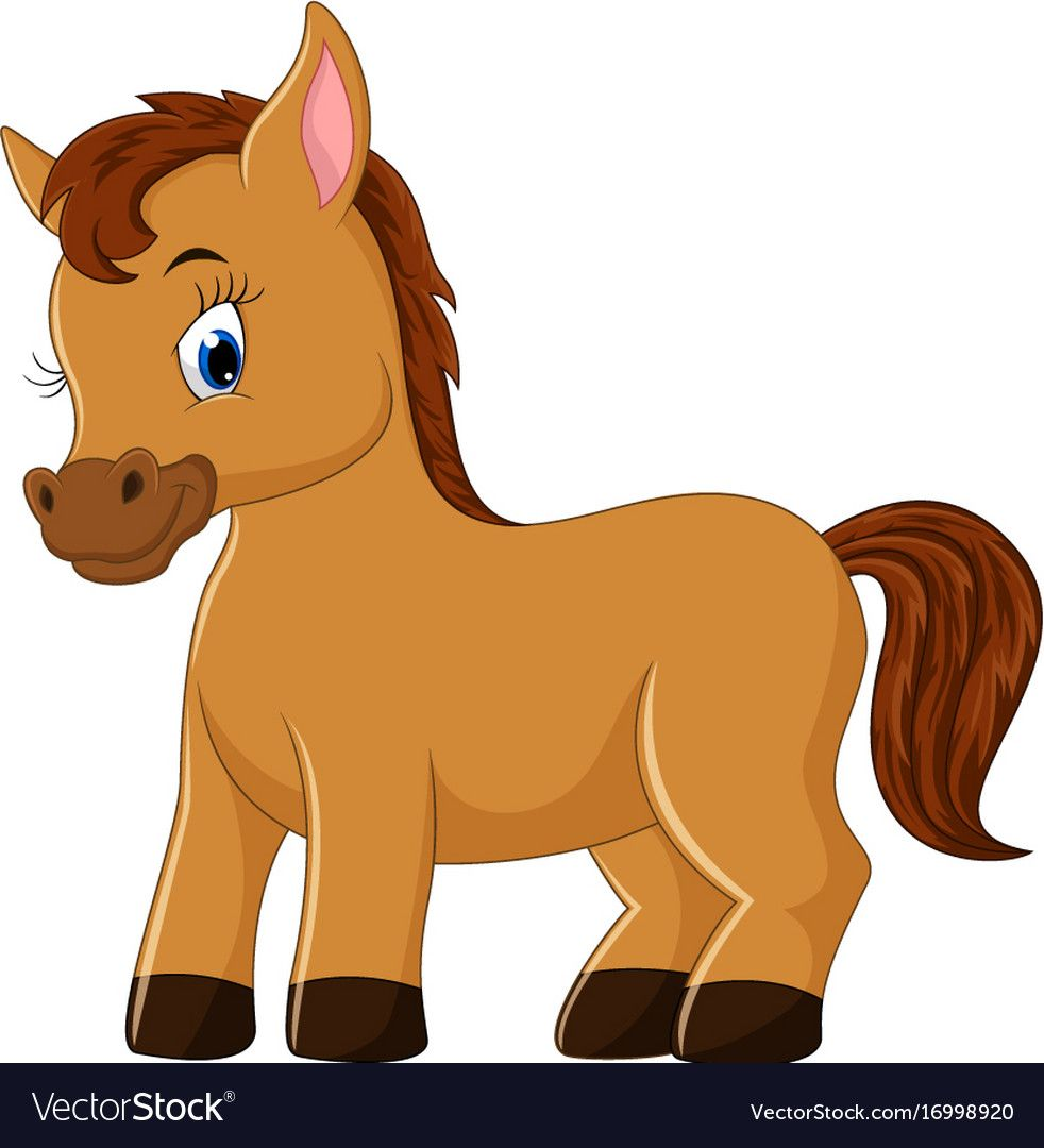 Illustration Of Cute Horse Cartoon Download A Free Preview Or High Quality Adobe Illustrator Ai Eps Pdf And High Reso Horse Cartoon Cartoon Drawings Cartoon