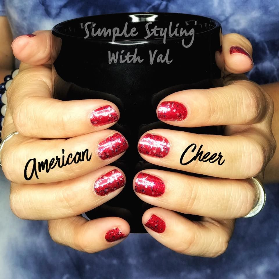 4th of July Nails. Color Street American Cheer, 100% real ...
