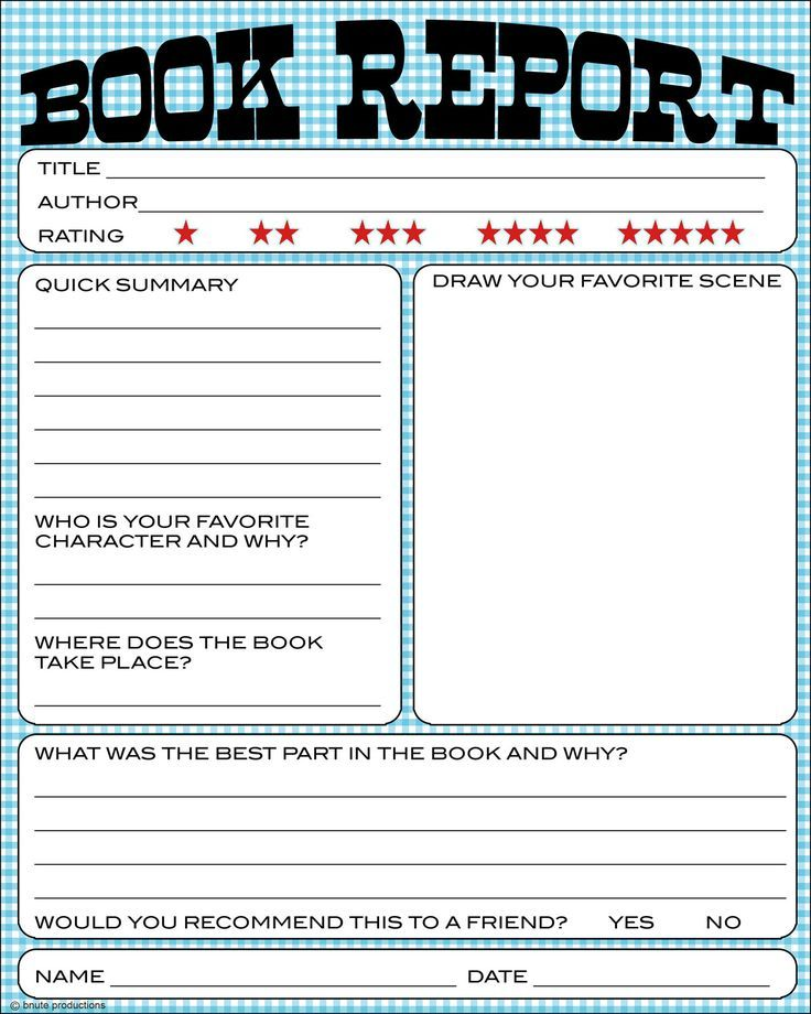 Free Book Report Printable - Great for lower primary grades It also