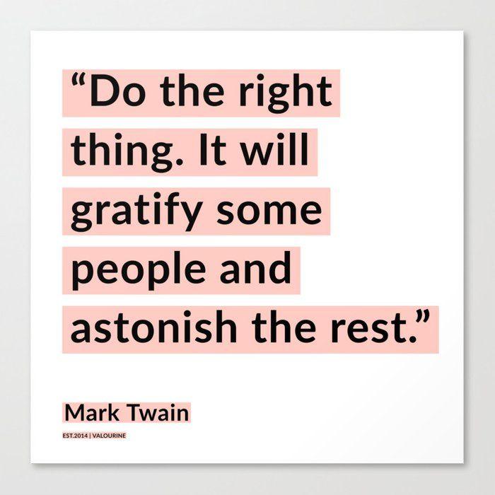 48    | Mark Twain Quotes 200908 Motivational Inspirational Inspiring Motivating Canvas Print by Wordz