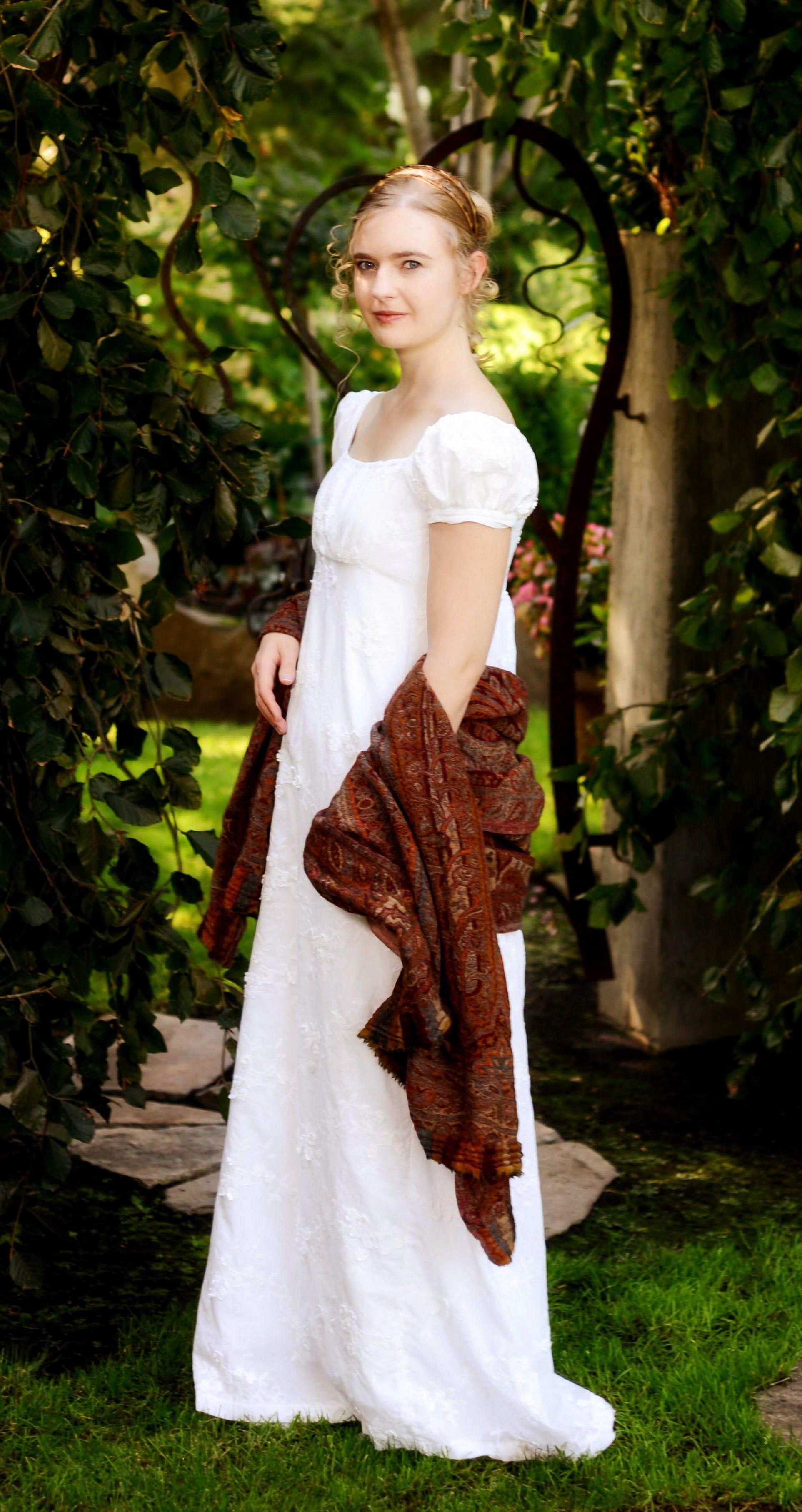 Regency portrait. The lady\'s gown is \