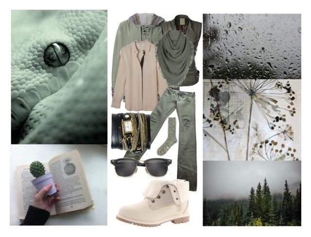"""""""Whispers"""" by sophia-pawz ❤ liked on Polyvore featuring Greg Lauren, White + Warren, Victoria Beckham, Timberland, La Mer, Ray-Ban, Form & Thread and 2017"""