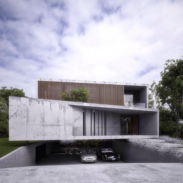Modernes Gebäude Aus Beton Und Holz #moderne #architektur