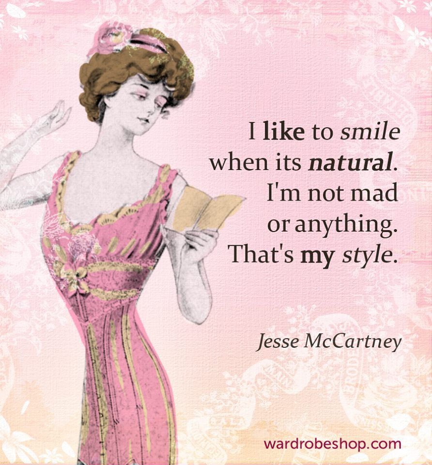 b3fba23697eb9 I like to smile when its natural. I'm not mad or anything. That's my style  | Jesse McCartney | #quotes