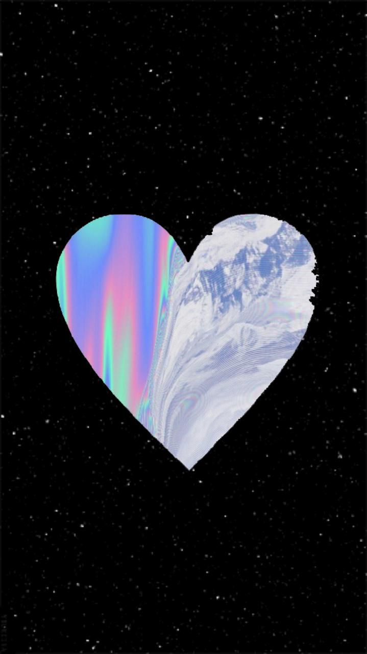 Download Holographic Heart wallpaper by c4itlynxoxo20 now