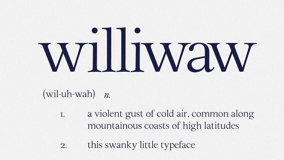 Williwaw Book Free Font Lettering Uppercase Lowercase Letters