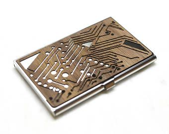 Circuit board design wood business card holder wood credit card circuit board design wood business card holder wood credit card case wooden colourmoves