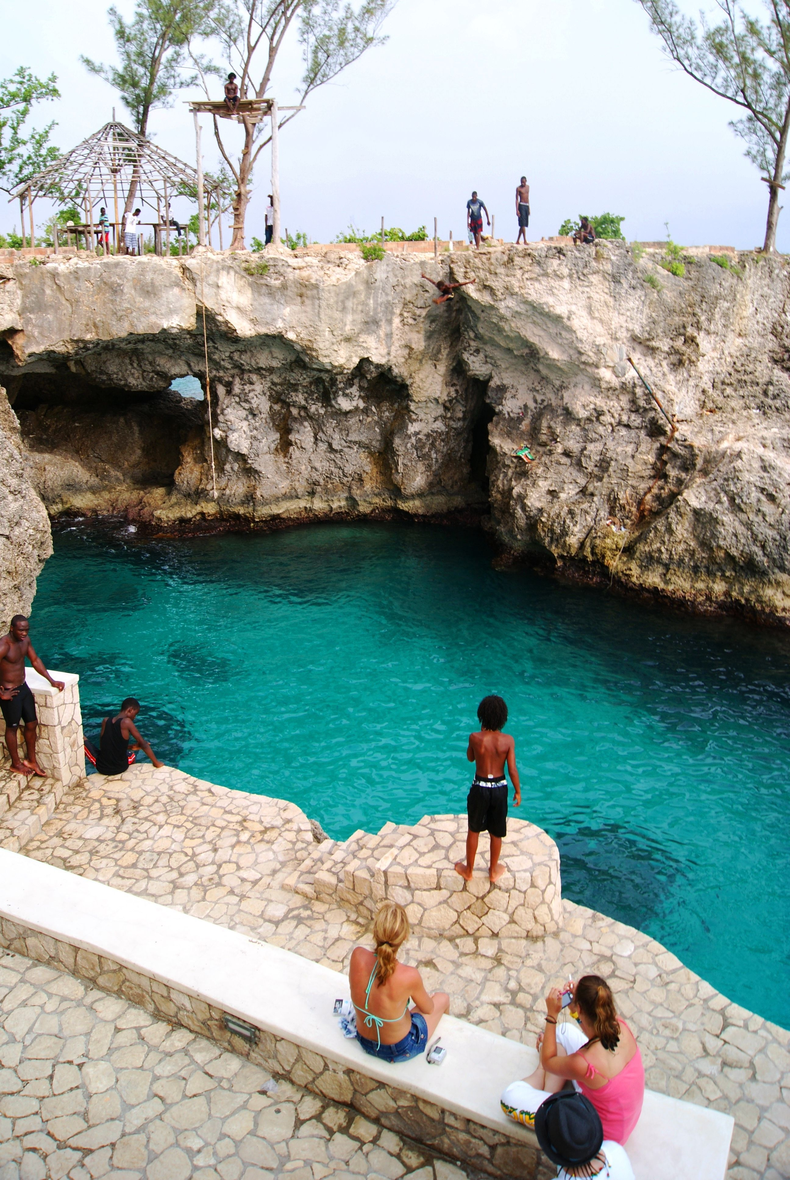 Jamaica, Cliff diving ...Rick's Cafe