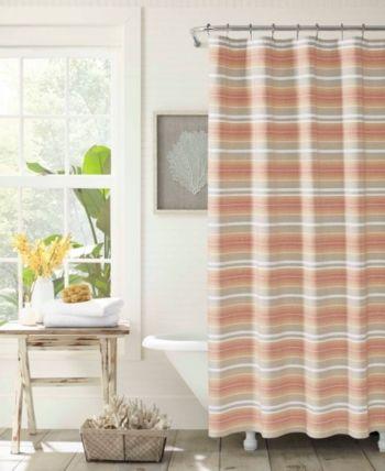 Tommy Bahama Sunrise Stripe Shower Curtain Bedding Striped