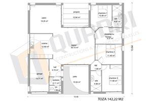 plan de maison quadri