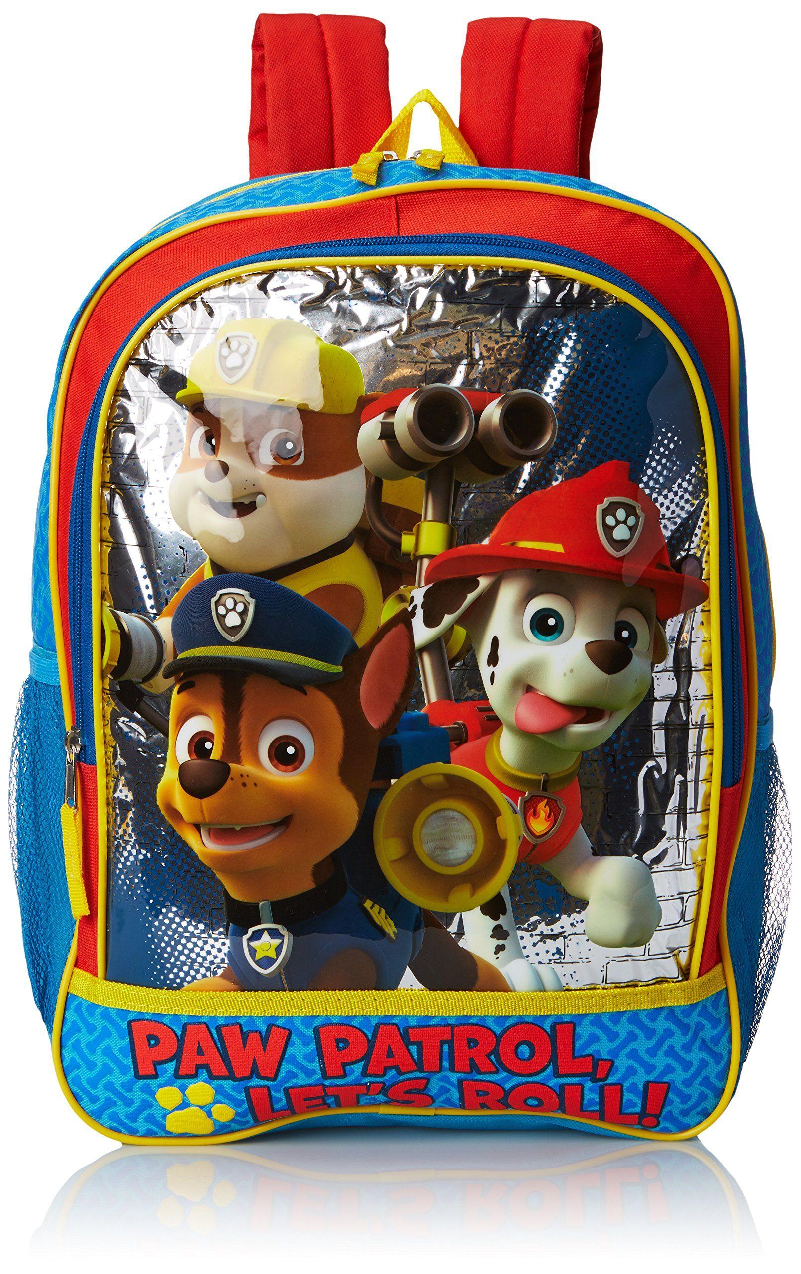 "Nickelodeon Paw Patrol Red 16/"" Back to School Rolling Backpack Bag!"