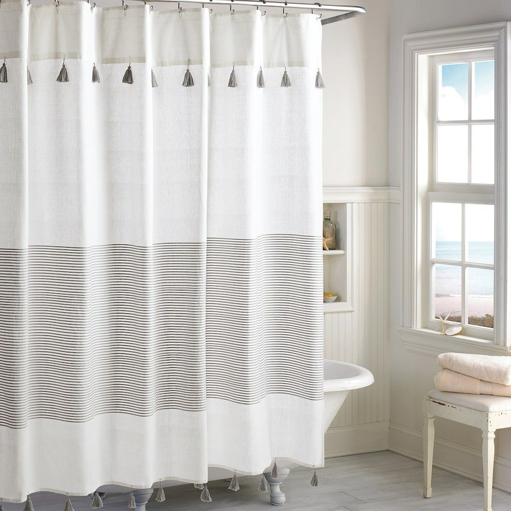 Peri Panama Stripe Shower Curtain Kohls Striped Shower