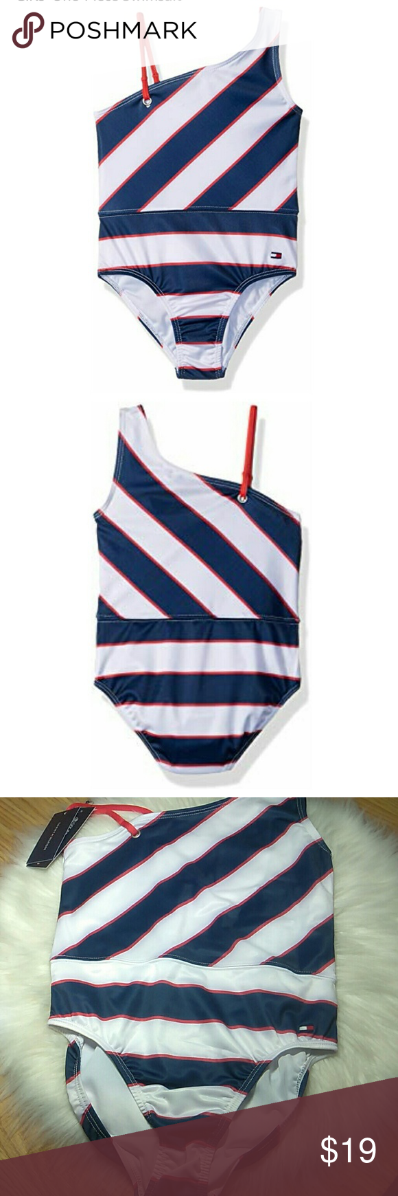 45e38b6726704 NEW TOMMY HILFIGER SWIMSUIT Brand new Tommy Hilfiger girls one piece  swimsuit UV protection 50 +