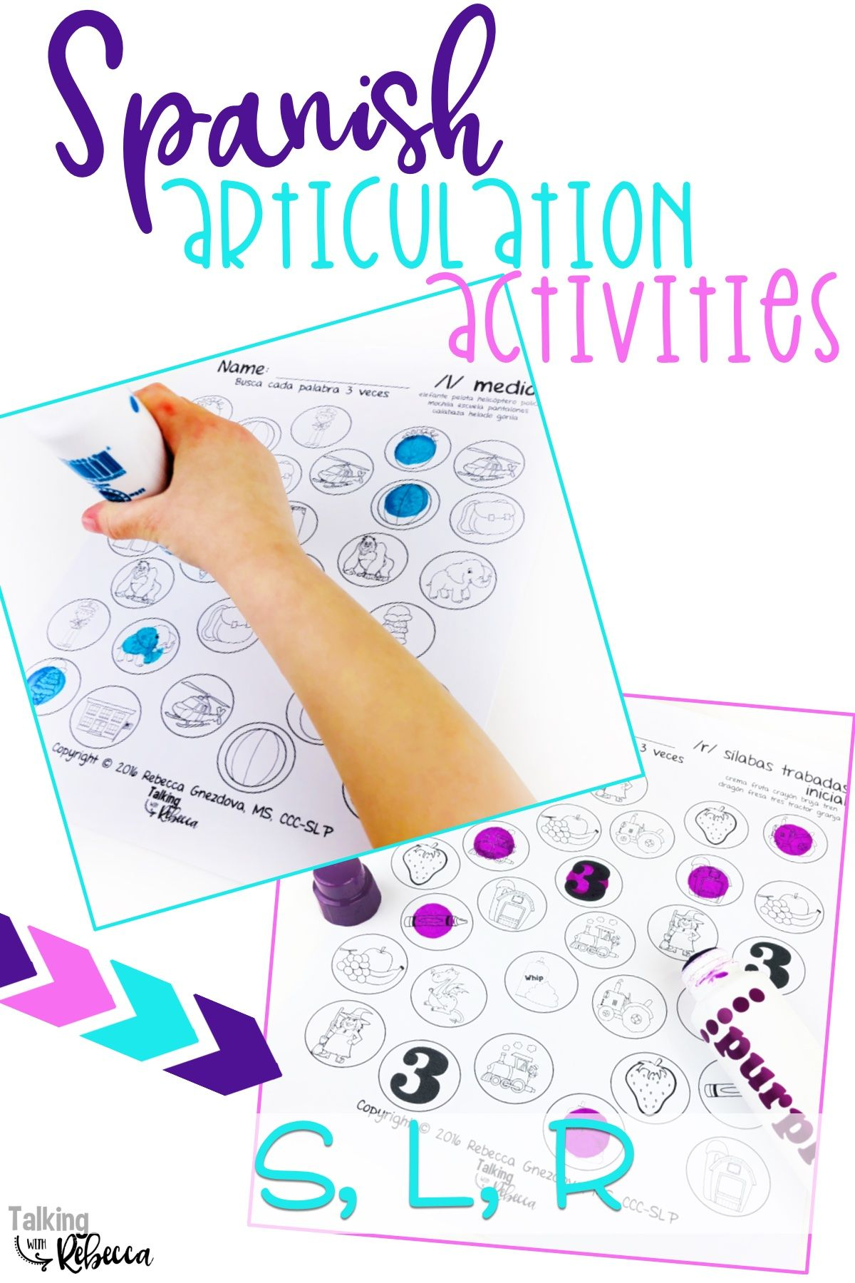 Spanish Speech Therapy Articulation Activity With S L And