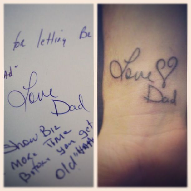 Tattoo Of My Parents Signature From A Card: Loved Ones Signature Tattoo. I Would LOVE To Get One On