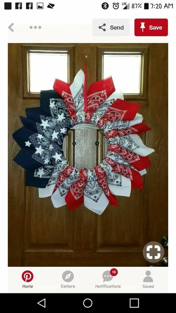 Photo of 25 Inspiring 4th of July wreath DIY Ideas for 2019 Patriotic Day decorations
