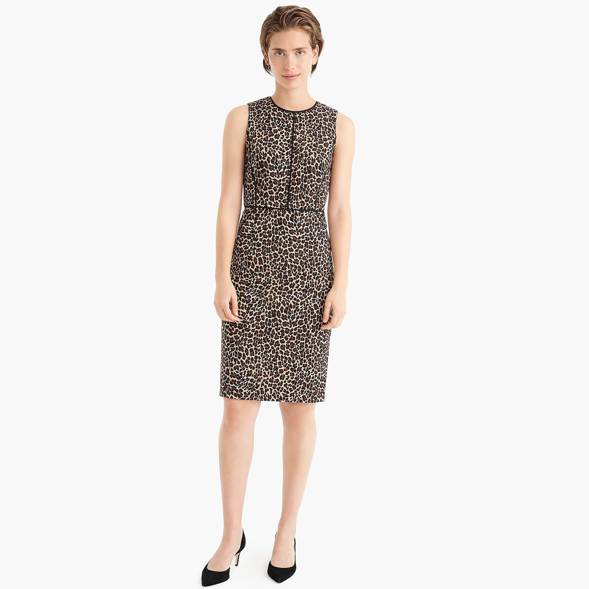 7e15d796 J. Crew Sheath dress in leopard print - Leopard   MY CLOSET ...