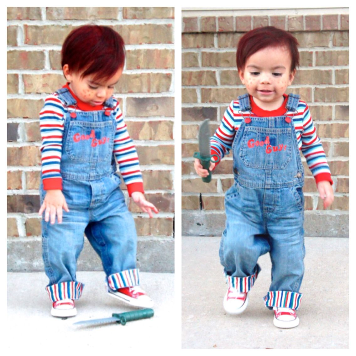 Good guy chucky costume toddler liam leal pinterest chucky good guy chucky costume toddler solutioingenieria Choice Image