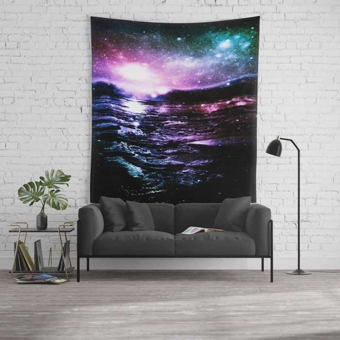 Mystic Waters Cool Tone Ombre Wall Tapestry