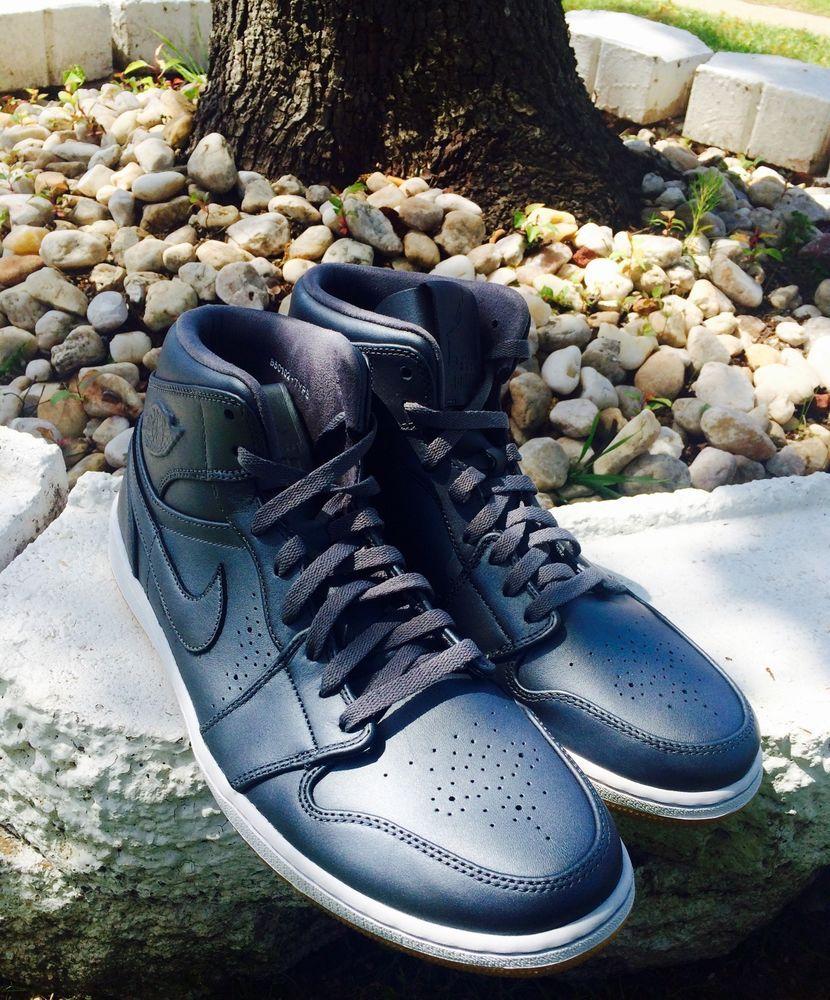 5c32f9373b24 men shoes NIKE AIR JORDAN 1 mid I cool grey white gum light brown size 14   Nike  AthleticSneakers