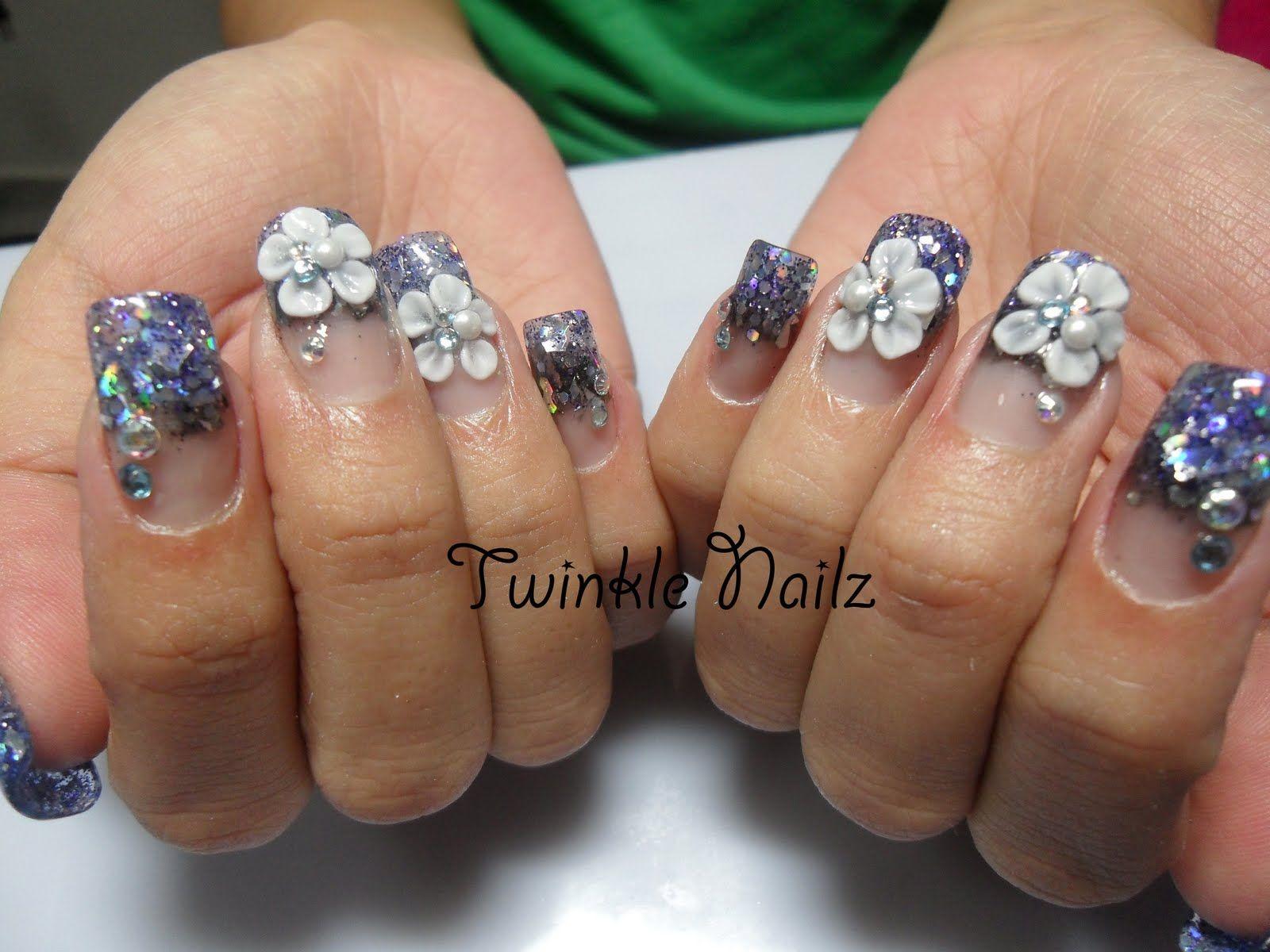 Acrylic nail art 3d acrylic nails inlay nail art by twinkel acrylic nail art 3d acrylic nails inlay nail art by twinkel nailz prinsesfo Gallery