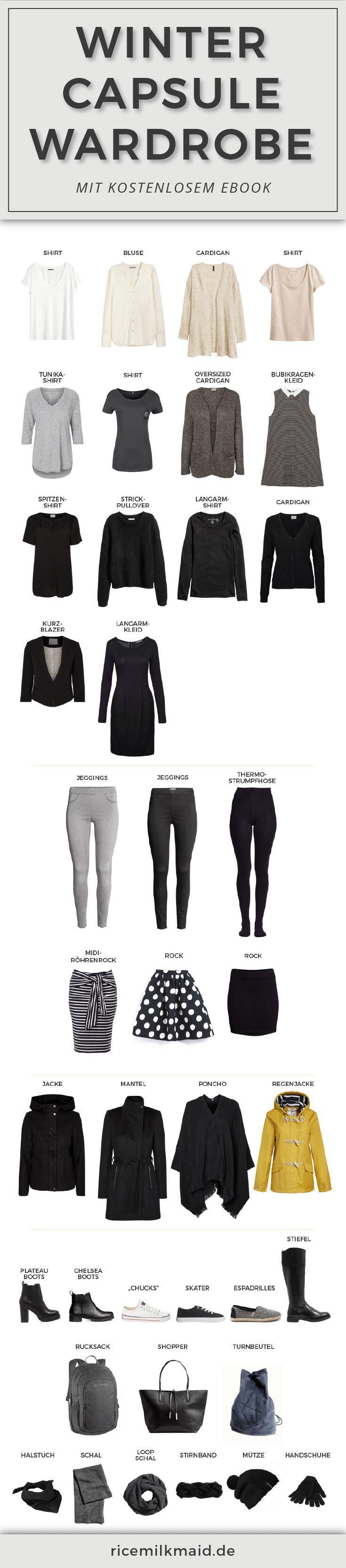 Capsule wardrobe f r den winter n hen capsule for Minimalistischer kleiderschrank