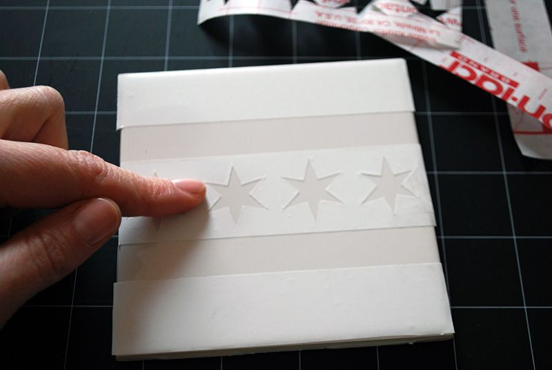 Make Your Own Coasters With Ceramic Tiles And Etching Cream Plus Chicago Flag Free Template