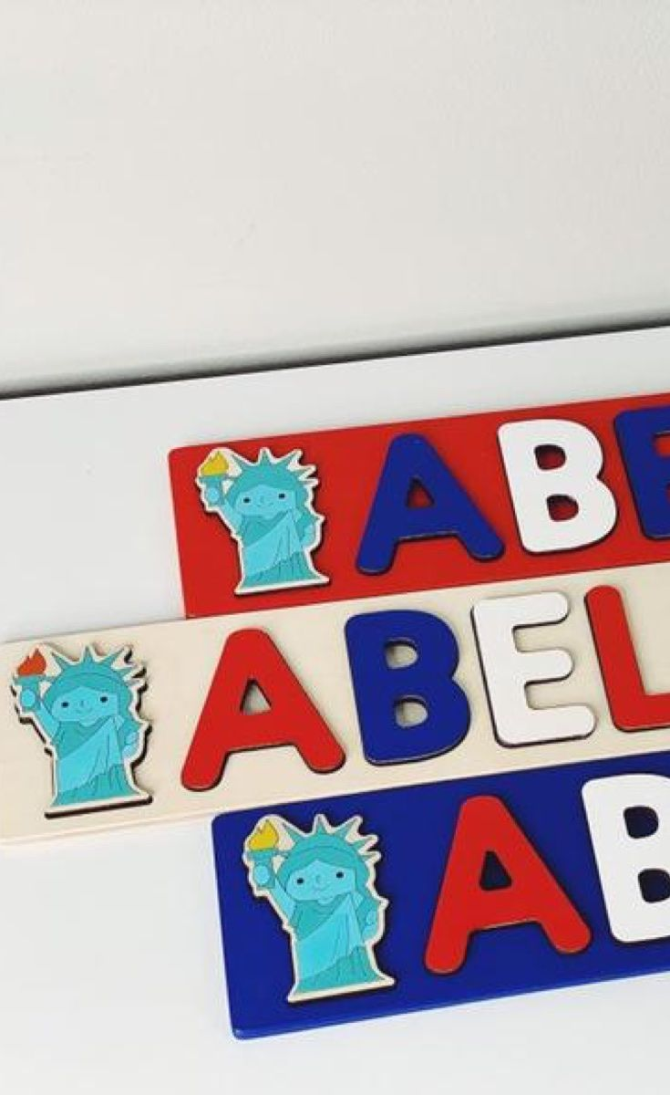 Personalized Wooden Name Puzzle by BusyPuzzle images
