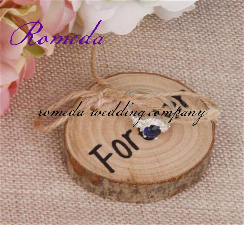 1pcs Lot Wooden Ring Bearer Pillow Wood Wedding Holder