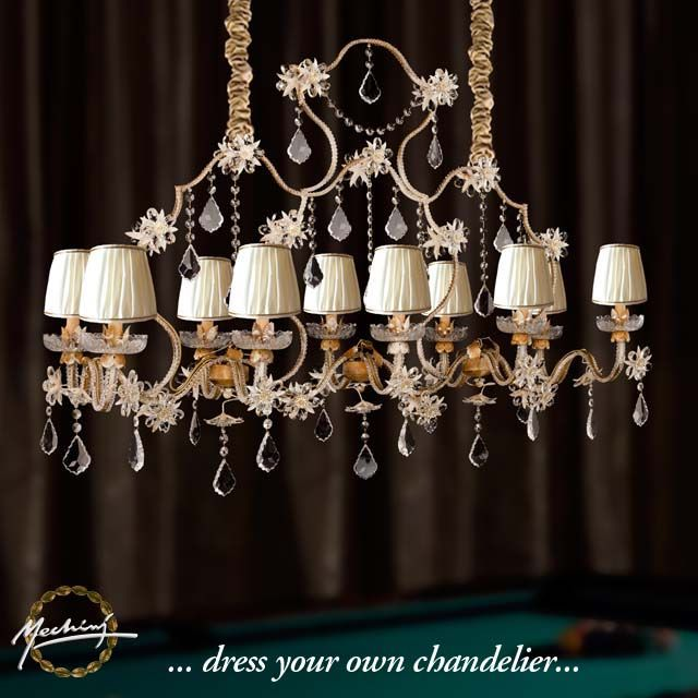 Mechini italian handmade chandeliers product l29810 10 lights mechini italian handmade chandeliers product l29810 10 lights chandelier in wrought iron with clear bohemian crystal and lamp shades aloadofball Image collections